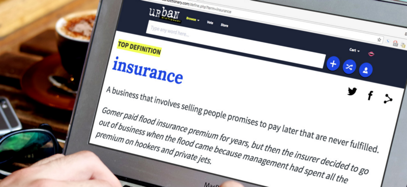 Urban Dictionary definition of insurance
