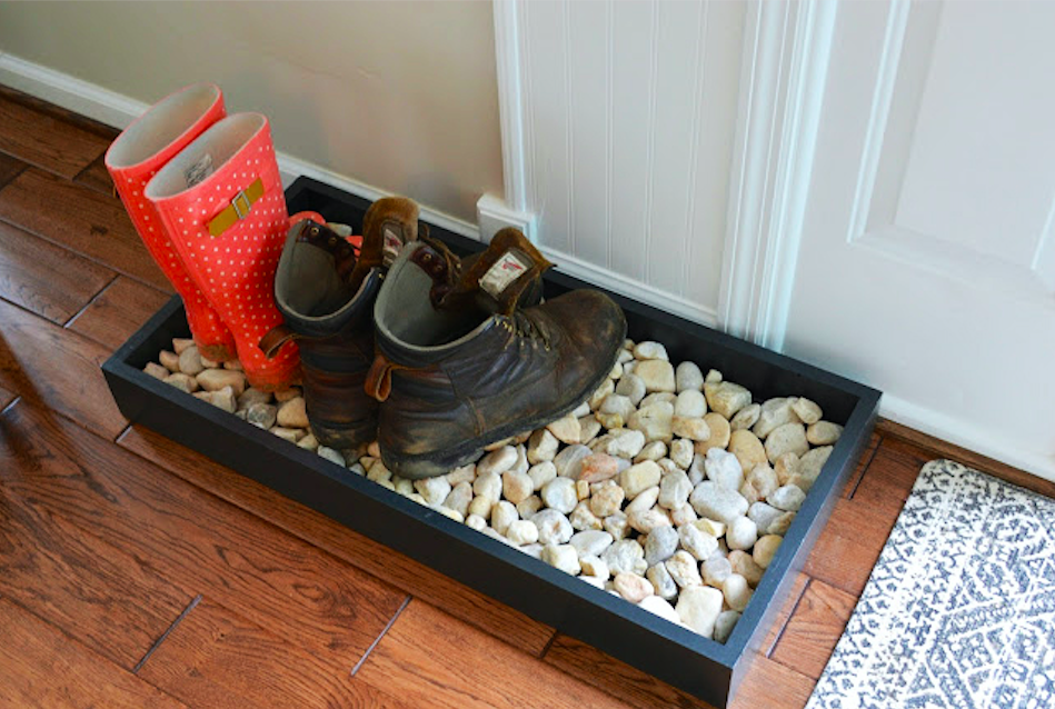 Winterizing an apartment with boot trays - Lemonade Blog