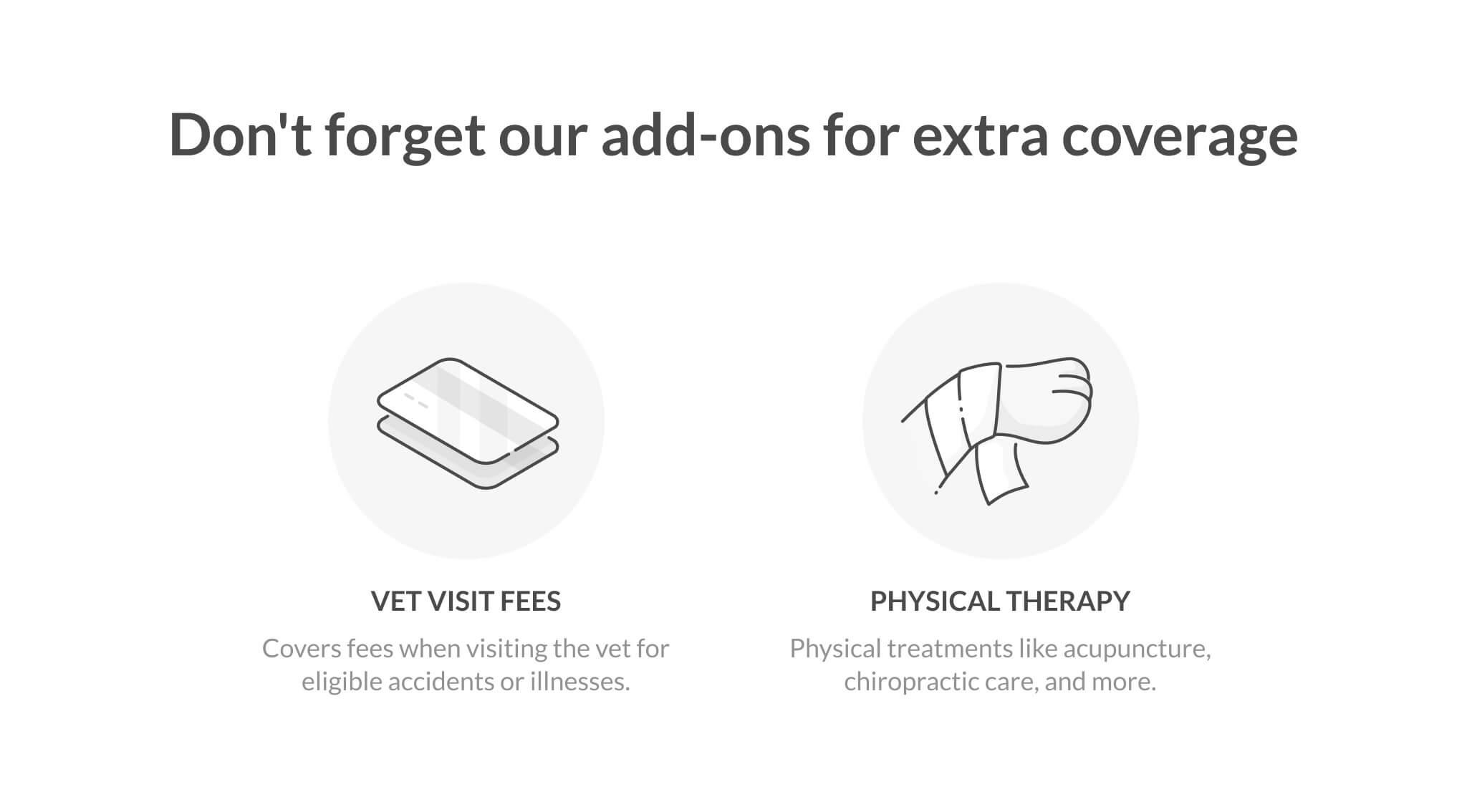 pet insurance add-ons